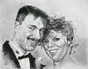 Portret-bruidspaar (mark.algra) Tags: portret papier potlood getekend