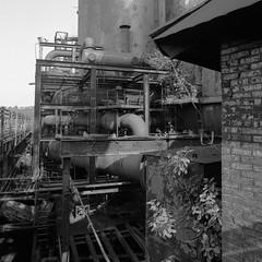 (.tom troutman.) Tags: bw 120 6x6 film analog mediumformat industrial pittsburgh fuji pennsylvania pa bronica acros carriefurnace sqai