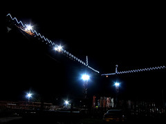 Giving the Festive Season a Lift (Lady Wulfrun) Tags: christmas blue light night motorway m1 crane sheffield christmaslights cranes towercranes decorated htc floodlights tinsley m1motorway