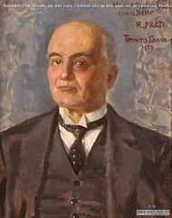 Romualdo Prati Ritratto del dott Carlo Lachman olio su tela applicato su cartoncino 49x39cm