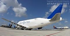 Dreamlifter in Miami (Suresh A. Atapattu) Tags: air atlas boeing 747 dreamlifter