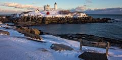 Winter Shadows - Nubble Lighthouse (John Clay173) Tags: ocean york winter lighthouse me maine newengland neddick nubble capeneddick jclay mygearandme mygearandmepremium mygearandmebronze mygearandmesilver mygearandmegold mygearandmeplatinum photographyforrecreationeliteclub