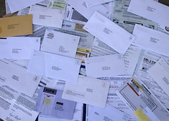Pile of junk mail from the Netherlands (Judith E. Bell) Tags: junk mail spam political fake lottery elderly fundraiser scam predatory 419 charities elderabuse advancefeefraud superpac
