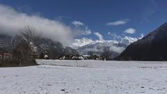 Vollèges (bulbocode909) Tags: valais suisse vollèges valdentremont nature villages montagnes hiver neige nuages paysages bleu