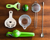Knolling - Cocktail Tools (Chase Hoffman) Tags: sigma50mmf14dghsmart normal 50mm eos colorado color chasehoffmanphotography chasehoffman canon denver dof depthoffield 5dmarkiv 5dmkiv canoneos5dmarkiv knolling cocktail mixing mixology strainer hawthronestrainer mixingglass juicer barspoon spoon lime green wood woodtable