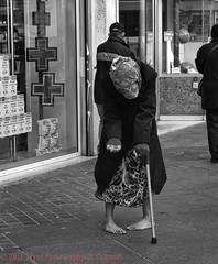 Please... (J.Lynn Photography) Tags: woman hopeless bw elderlywoman