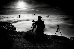 Silhouette (Andrew Louie Photography) Tags: golden gate bridge fog silhouette black white bw digital portrait march springtime photography andrew louie
