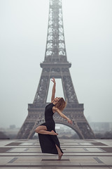 (dimitryroulland) Tags: nikon d600 85mm 18 dimitry roulland paris urban street city france tour eiffel dance dancer ballet ballerina natural light black dress