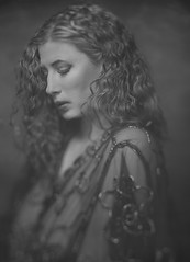 *** (Iwona Aleksandrowicz) Tags: portrait blackandwhite analog women girl mentorcamera 13x18 fuji xray