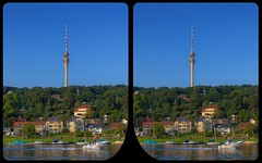 River Elbe at Dresden-Wachwitz 3-D / Stereoscopy / CrossEye / HDR / Raw (Stereotron) Tags: saxony sachsen dresden elbflorenz elbe river stream boat landscape tvtower europe germany crosseye crosseyed crossview xview cross eye pair freeview sidebyside sbs kreuzblick 3d 3dphoto 3dstereo 3rddimension spatial stereo stereo3d stereophoto stereophotography stereoscopic stereoscopy stereotron threedimensional stereoview stereophotomaker stereophotograph 3dpicture 3dglasses 3dimage hyperstereo twin canon eos 550d yongnuo radio transmitter remote control synchron kitlens 1855mm tonemapping hdr hdri raw 3dframe fancyframe floatingwindow spatialframe stereowindow window