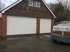 A pair of extra high Hormann doors in Chailey