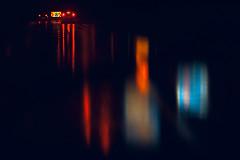 A rainy night (jinterwas) Tags: rain regen reflections reflectie weerspiegeling verkeer traffic night nacht black zwart car auto lichten lights blue blauw driving rijden cc free freetouse creativecommons