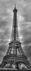 Eiffel Tower panorama in black and white (cmfgu) Tags: paris france europe europeanunion eiffeltower toureiffel leftbank champdemars gustaveeiffel ironlattice 1889worldsfair 125thanniversary 7tharrondissement 7thdistrict panorama hdr highdynamicrange bw blackwhite craigfildesfineartamericacom art wall canvasprint framedprint acrylicprint metalprint woodprint greetingcard throwpillow duvetcover totebag showercurtain phonecase sale sell buy purchase gift craigfildes artist photographer photograph photo picture prints