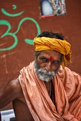 Once upon a time in Varanasi ~ India (~mimo~) Tags: religion ghat ganges ganga color portrait photography street holy man varanasi india