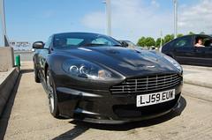 Aston Martin DBS (D's Carspotting) Tags: aston martin dbs france coquelles calais grey 20100613 lj59euw le mans 2010 lm10 lm2010