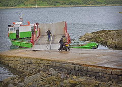 Loading the Ferry.. (Harleynik Rides Again.) Tags: glenachulish ferry glenelg kylerhea narrows motorcycle kawasaki scotland harleynikridesagain