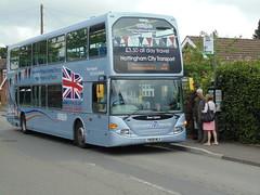 Nottingham City Transport 959 - Armed Forces Day Bus 2014 (Ash Hammond) Tags: nottinghamcitytransport scanian270ud darwenomnidekka 959 yn08mlx