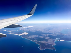 63+412: Tangled up in blue (geemuses) Tags: coffinbay southaustralia flight plane view landscape space horizon landjet sanddunes sand sea water ocean scenic scenery