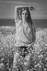 Field of Dreams (Keltron - Thanks for 10M Views!) Tags: select evelyn evelynfrost pantherbeach beautifulgirl field beach santacruz cutoffs sexygirl hotgirl hotmodel northerncalifornia blackandwhite
