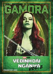 GOTG 2 - GAMORA (nam fullbuster) Tags: guardians galaxy vol 2 poster characters việt hóa nam lê yondu rocket nebula mantis gamora ego drax baby groot ayesha