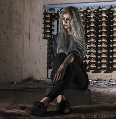 Johanna S (Kjell.holgersson) Tags: nikon photoshoot photography portrait sweden småland d800 girl höglandet kjellholgersson color cold blond blueeyes nässjö nikkor model mua makeup art studiolights