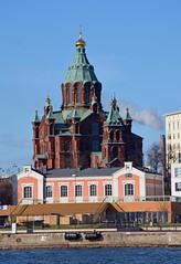 Uspenski Cathedral from the sea (JohntheFinn) Tags: sea meri kauppatori architecture helsinki finland klaggy suomi eurooppa europe historia history