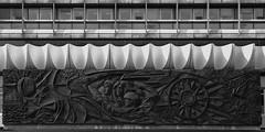 haus des reisens. berlin 5129 (s.alt) Tags: hausdesreisens alexanderplatz berlin mitte berlinmitte alexanderstrase7 architektur hochhaus neuesachlichkeit kupfertreibarbeit dermenschüberwindetzeitundraum walterwomacka wellenförmig plastischeschalen plastik 1970ies sozialistischenmoderne denkmalschutz denkmalgeschützt kupferarbeit arts ausen bauwerk building buildings exterior facade fassade fassadenrelief gebäude gebäudefassade germany handcrafted handwerkskunst haus hausfassade kunst kunsthandwerk kunstwerk relief socialist urban city architecture surface structure blackwhite blackandwhite monochrome bw schwarzweiss sw reflection copperrelief copper alexanderstrase houseoftravels ddr gdr house reisen travel travelling kupferrelief
