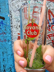 Havana Club Mojito Mint Drink (shaire productions) Tags: cuba cuban downtown buildings havana image picture photo photograph travel photography imagery havanaclub glass mint mojito blue drink