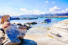 Kolimbithres, Paros (Kevin R Thornton) Tags: rock nikon travel bay landscape mediterranean greece kolimbithres boat d90 paros kolimpithres egeo gr