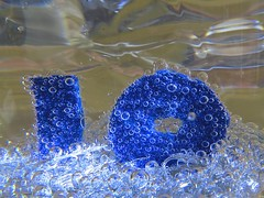 "Macro Monday: ""Happy 10 Years!"" (Hayseed52) Tags: ""happy 10 years"" macro monday blue bubbles party ten sparkly"