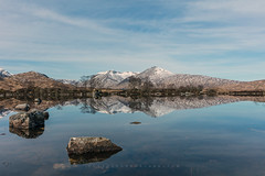 Breakfast Spot (Visible Landscape) Tags: uk scotland highlands rannochmoor snowcapped visiblelandscape reflection