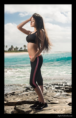 Keina (madmarv00) Tags: d600 makapuu nikon sandybeach asian beach girl hawaii kylenishiokacom model oahu ocean shoreline fitness sportsbra brunette