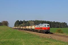 Jetzt auch mit Sonne: Die Ostbahnkönigin 232 005... (M. Eisenmann) Tags: zug eisenbahn knicker ludmilla 232 ostbahn diesellok