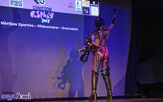 Comicdom Con Athens 2017: On stage: Widowmaker from Overwatch (SpirosK photography) Tags: comicdomcon comicdomcon2017 comicdomconathens2017 athens greece convention spiroskphotography cosplay costumeplay onstage stage performance widowmaker overwatch game videogame videogamecharacter