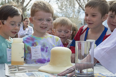 Young Chemists - Backyard Science Birthday (aaronrhawkins) Tags: science birthday party backyard demo demonstration chemical reaction kids children boys goggles safety chemicals spring excitement stem outreach badge ben guests sandy utah chemistry chemists aaronhawkins