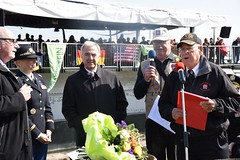 Shelato honored at historic event (U.S. Army Europe) Tags: nierstein germany worldwar ww2 75strong strong strongeurope amphibious nazivictims kornsand engineers 249th history historic rhine rhineriver usareur armyeurope europestrong