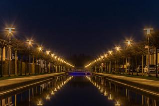 Nordkanal bei Nacht.