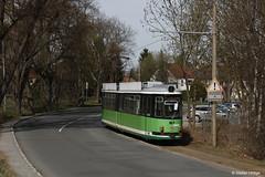 Halberstadt GT4 167 als Zusatzwagen zur Klus an der Kirschallee, 31.03.2017 by Tramfan2011 - Montags bis Freitags fährt der letzte GT4 Kurs in Deutschland noch regelmäßig zu Endstelle Klus.