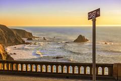 THE SUN IS FALLING (LOURENḉO Photography) Tags: monterey bridge bigsur sun surf ocean coastal bixby