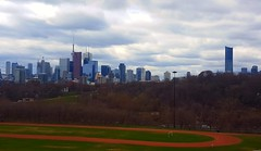 Lunch hour overlooking city core (Galactic Dawn) Tags: lunch noon toronto city skyscrapers park downtown relaxation