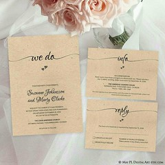 NEW 'We Do' wedding invitation editable pdf template with info and reply cards. Just type your own text in! http://etsy.me/2oBak5J #wedding #rustic #invitations #wedo #editable #template (maypldigitalart) Tags: wedding invitations rustic editable wedo template