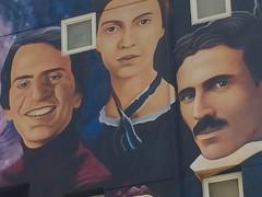 Venice Mural (TheMightyEye) Tags: themightyeye usa boardwalk venice beach california ca losangeles mural muralist graffiti wall painting paint science intellectuals nicola carl tesla sagan