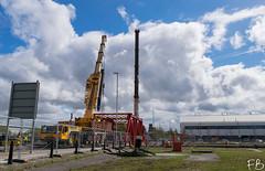 Cranes Ahoy! (frisiabonn) Tags: outdoor merseyside england uk britain liverpool birkenhead crane bridge demolition dismantle