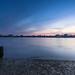 River Deben at Bawdsey after sunset