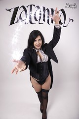 Ailiroy as Zatanna Zatara, by SpirosK photography (pinup version): Magic! (SpirosK photography) Tags: ailiroycreations ailiroy ailiroyartsandcrafts portrait sexy pinup dccomics dcuniverse dc zatanna zatannazatara magic