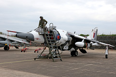 Harrier GR3 - Cosford (Andrew Edkins) Tags: raf cosford staticdisplay reenactor pilot flying aircraft aviaiton airframe timelineevents photoshoot gr3 harrier flight april spring 2017 shropshire england light airbase combat fighter jet canon museum warplane missiles attack fastjet afternoon people uk war military royalnavy thrust verticaltakeoff image photo sky ladder cockpit british slr bae