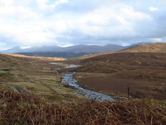 8645 Mountains, moorland and babbling burn (Andy - Busyyyyyyyyy) Tags: 20170319 bbb burn ccc clouds ggg glengarry mmm mountains scotland sss stream sunny water www