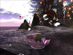 Fantasy Faire - Klannex's Poetry Reading  IIII (mromani50) Tags: firestorm secondlife secondlife:region=kakushipasu secondlife:parcel=kakushipasusponsoredbysanctuaryroleplaycommunity secondlife:x=140 secondlife:y=44 secondlife:z=42 lotus candle fish bubbles lantern shimmer