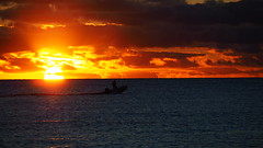 Golden Sky (Ross Major) Tags: sky gold sunset boat sea ocean clouds adelaide brighton beach water light south australia
