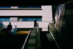 Exit (Sergi_Escribano) Tags: barcelona nikonfm2 filmsnotdead streetsofbarcelona sergiescribanophotography streetphoto barcelonastreetphotography fujifilm city subway underground streetphotography architecture